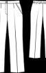 Брюки класичного крою на еластичному поясі - фото 3
