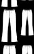 Брюки кльош довжиною 7/8 - фото 3
