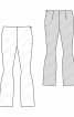 Брюки без пояса з оригінальним кроєм - фото 3