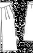 Брюки кюлоти з м'якими складками і на кокетці - фото 3