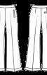 Брюки марлен розкльошеного крою - фото 3