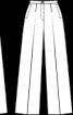 Брюки палаццо зі складками-стрілками - фото 3