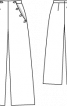 Брюки широкого крою з боковими кишенями - фото 3