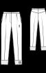 Брюки джинсові зі стрілками і одворотами - фото 3