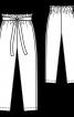 Брюки довжиною 7/8 з лампасами - фото 3