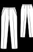 Брюки класичного крою з боковими кишенями і складками-стрілками - фото 3