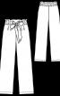 Брюки широкого крою на розтяжному поясі - фото 3