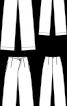 Брюки прямого крою з асиметричною застібкою - фото 3