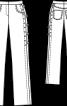 Брюки прямого крою зі шнурівкою - фото 3