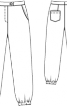 Брюки широкі зібрані на куліски - фото 3