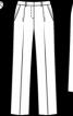 Брюки класичного крою зі складками-стрілками - фото 3