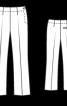 Брюки 7/8 зі складками-стрілками - фото 3
