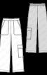 Брюки в стилі карго з накладними кишенями - фото 3