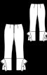 Брюки довжиною 7/8 з воланами - фото 3