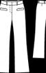 Брюки розкльошеного крою з бавовняного шитва - фото 3