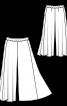 Спідниця-брюки широкого крою - фото 3