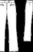 Брюки з прорізними кишенями на блискавці - фото 3