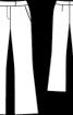 Брюки розкльошеного крою з бавовняної саржі - фото 3