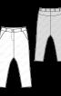 Брюки-саруели із блискавками внизу штанин - фото 3