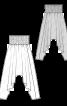 Брюки саруели на широкому поясі - фото 3