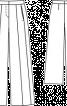 Брюки широкі зі складками-стрілками - фото 3