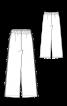 Брюки в пижамном стиле на растяжном поясе - фото 2