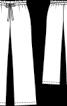 Брюки широкого крою з пояском-зав'язкою - фото 3