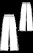 Брюки широкого крою з високими розрізами - фото 3