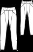 Брюки еластичні з рельєфними швами - фото 3