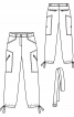 Брюки прямого крою з кулісками знизу штанин - фото 3