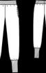 Брюки трикотажні з високими манжетами - фото 3