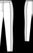 Вузькі брюки зі вставками по боках - фото 3