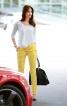Вузькі брюки з боковими кишенями - фото 1