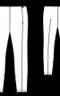 Брюки вузькі з рельєфними швами - фото 3