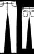 Завужені брюки з п'ятьма кишенями - фото 3