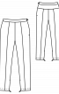 Брюки вузького крою довжиною 7/8 - фото 3