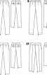 Брюки завуженого крою із чотирма кишенями - фото 3
