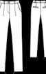 Брюки з еластичної саржі зі складками біля пояса - фото 3