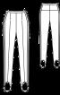Брюки вузького крою з лампасами і штрипками - фото 3