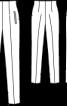 Брюки з високою талією з еластичного дюшесу - фото 3