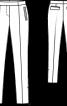 Брюки завуженого силуету зі складками-стрілками - фото 3