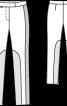 Брюки вузького крою зі шкіряними вставками - фото 3