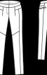Брюки трикотажні в джинсовому стилі - фото 3