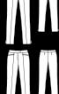 Брюки вузького крою з розрізами у бокових швах - фото 2