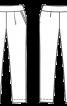 Брюки трикотажні на широкому фігурному поясі - фото 3
