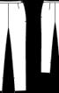 Брюки атласні завуженого силуету - фото 3