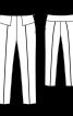 Брюки вузького крою на широких кокетках - фото 3