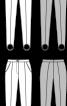 Брюки-легінси з рельєфними швами - фото 3
