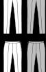 Брюки вузького крою зі складками стрілками - фото 3