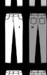Брюки вузькі у джинсовому стилі - фото 3